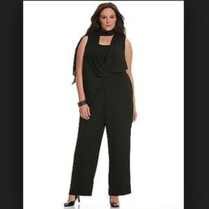 c8381b6d98 Lane Bryant · 6th And Lane Bryant Black Scarf Tie Jumpsuit Pant. NWT